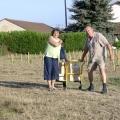 Schwere Last: nach der Weinprobe Nähe Bergerac