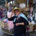 Uschi im alten Teil von Las Vegas